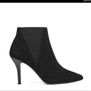 Nine West high rates suede pointy toe booties